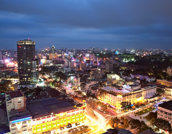 Ho Chi Minh City portrays a country working to modernize its economy and create export-driven industries.
