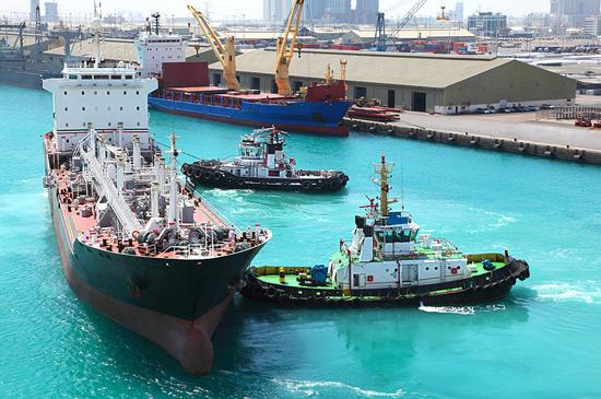 Commercial port near Abu Dhabi