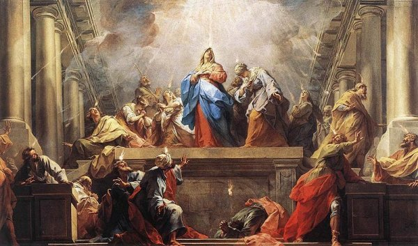 Whit Sunday, or Pentecost, commemorates the apparition of the Holy Spirit to the disciples of Jesus.