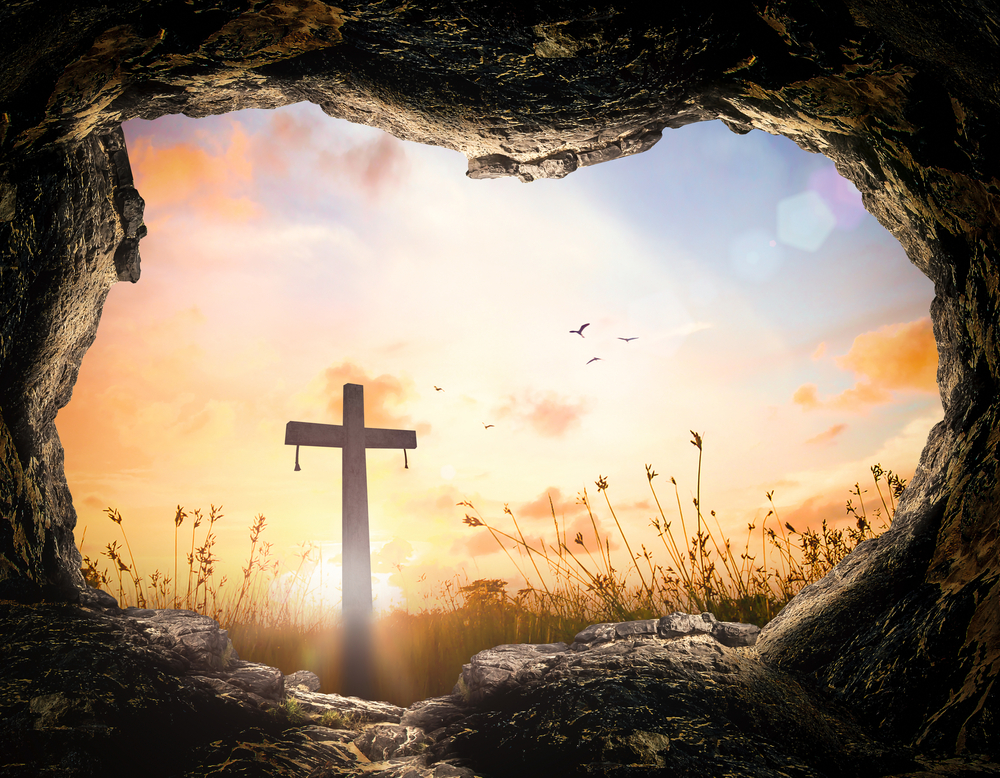 The empty tomb is a symbol for Christians that Jesus rose from the grave.