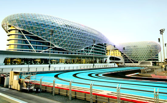 Yas Grand Prix Circuit and the Yas Hotel
