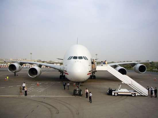Airbus A380-800 at Abu Dhabi Airport