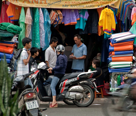 Clothing and textiles are major export commodities for Vietnam.