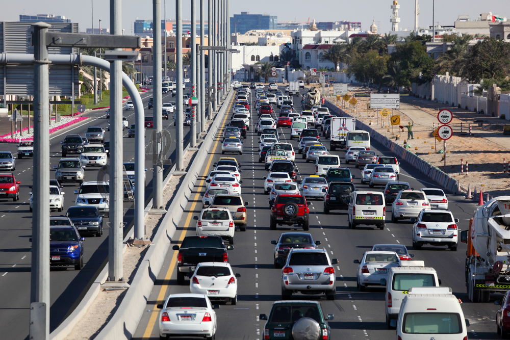 Traffic On Highway In Abu Dhabi