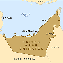 Map - United Arab Emirates