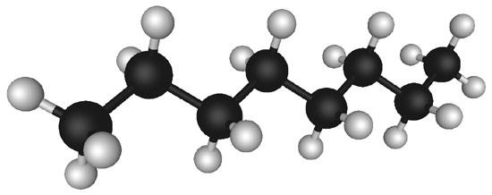 Octane, a hydrocarbon found in petroleum