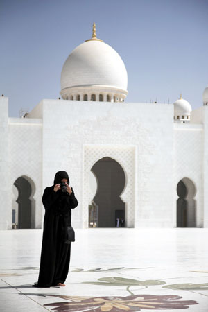Photographer in traditional garb