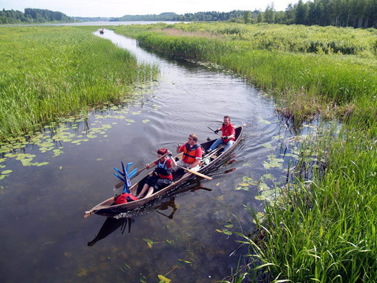 Soomaa National Park along the Parnu River floods in spring and is best discovered by canoe.