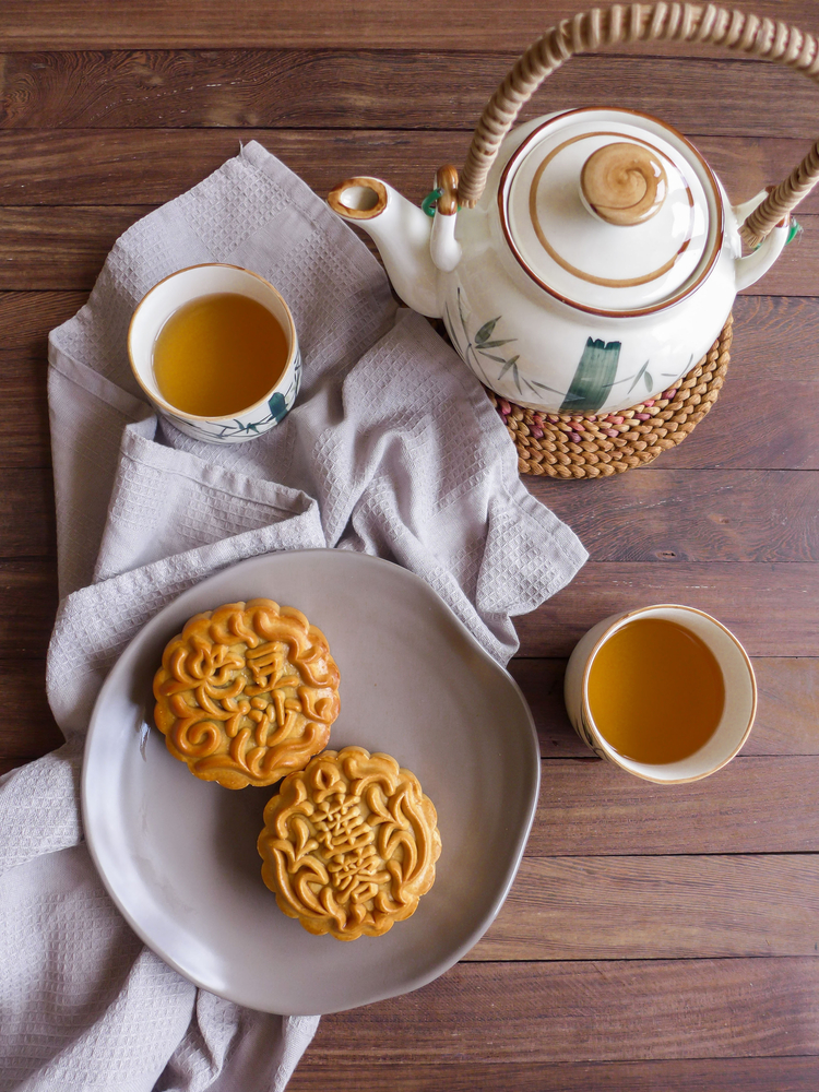 During Vietnam's Mid-Autumn Festival, people make traditional mooncakes with a variety of fillings.
