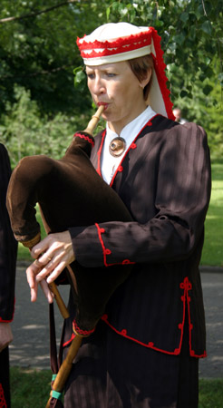 Estonian bagpiper