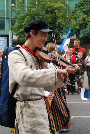Estonian fiddle music is played mostly for dancing.