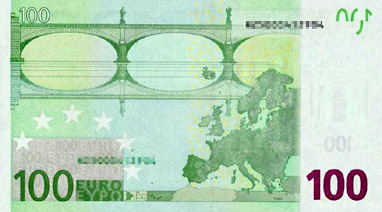 100 Euro (back)