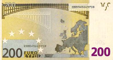 200 Euro (back)