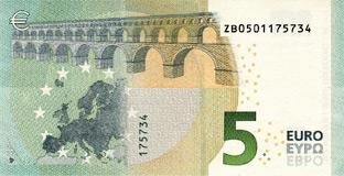 5 Euro (back)