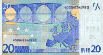 20 Euro (back)