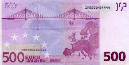 500 Euro (back)