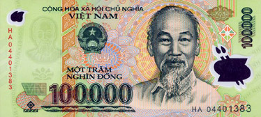 100000 Dong (front)