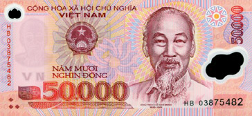 50000 Dong (front)