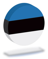 Flag of Estonia 3D Circle