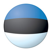 Flag of Estonia Ball
