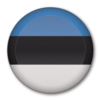 Flag of Estonia Button #1