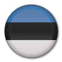 Flag of Estonia Button #1