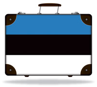 Flag of Estonia Suitcase
