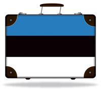 Flag of Estonia Suitcase