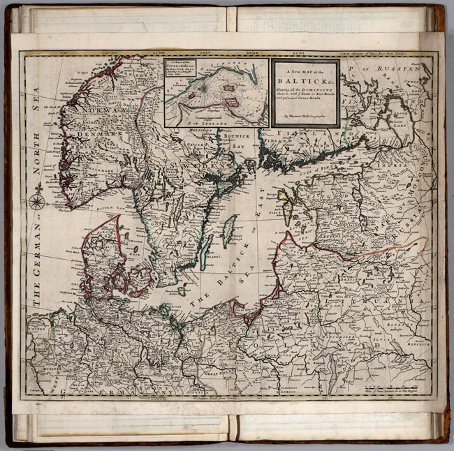 1732 Map of Baltic Countries