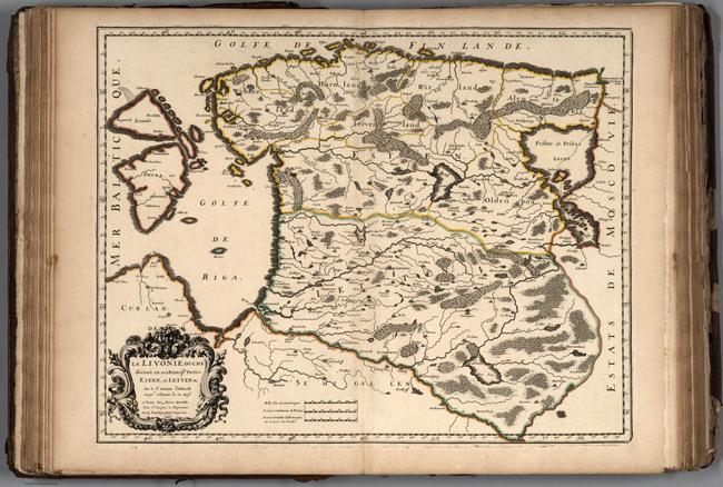 1663 Map of Livonia