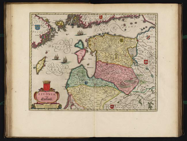 1665 Map of Livonia Vulgo Lyefland