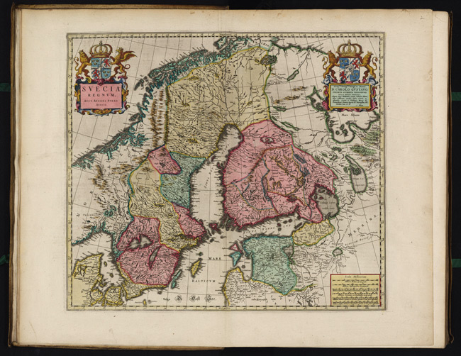 1665 Map of Svecia Regnvm