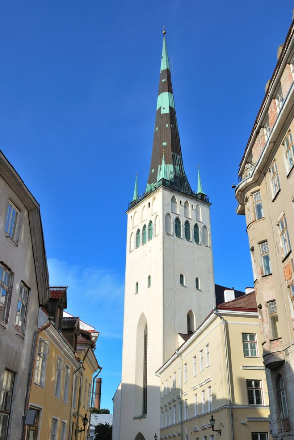 The steeple of St. Olav's Church was used as an identifying marker of the city for seafaring traders.