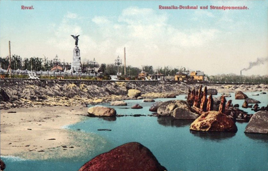 Russalka monument and seafront