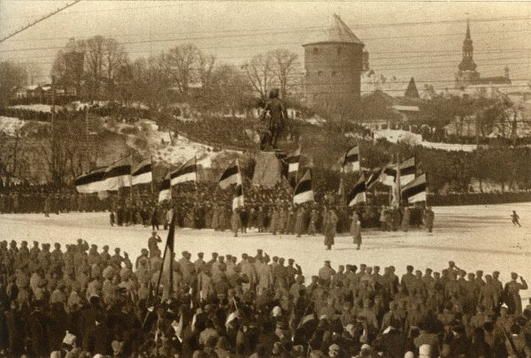 Celebration of Estonian Independence Day in 191