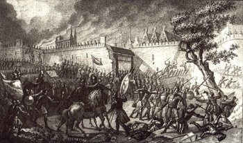 Boris Chorikov's depiction of the Siege of Narva of 1558, during the Livonian wars.