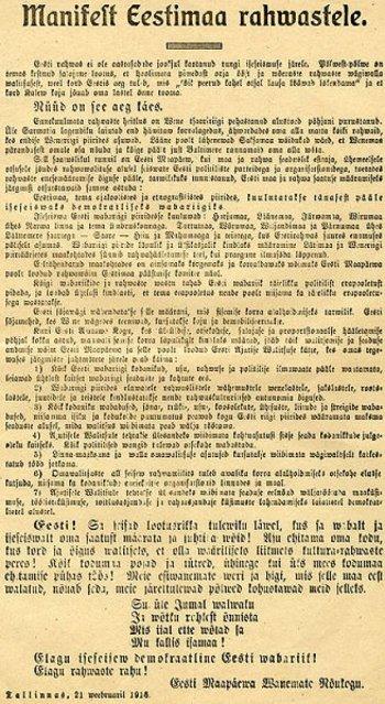 Estonian Declaration of Independence.
