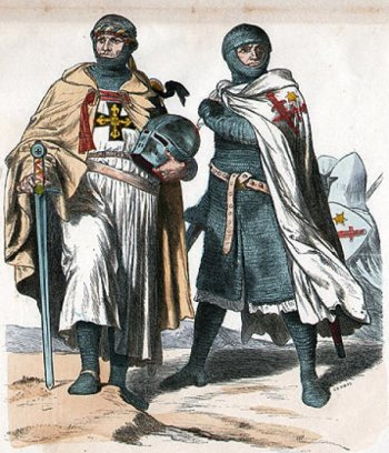 1870 depiction of knights of the Livonian Brothers of the Sword, the military order that takes Estonia away from the Danes.