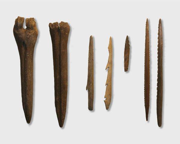 Kunda tools on display at the Estonian History Museum