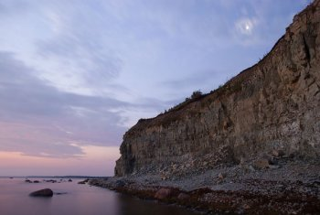 Panga Cliff in the island of Saaremaa. The island is the site of a fierce battle between local and Icelandic Vikings.