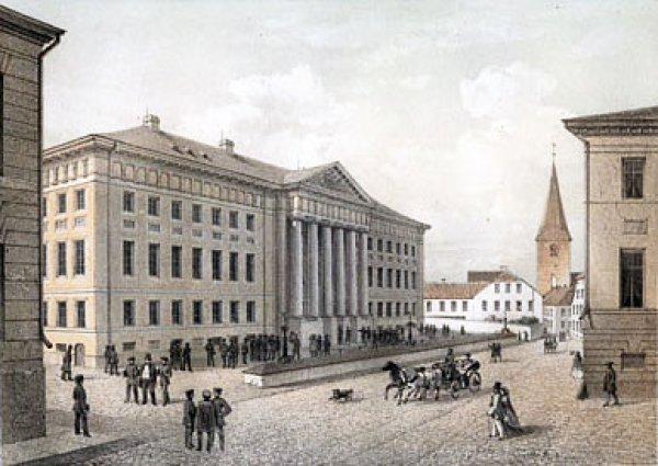 Tartu University (Universitat Dorpat) in 1860, during its