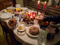 Christmas is celebrated with traditional foods.