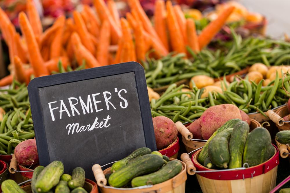 A Fresh Vegetable Market