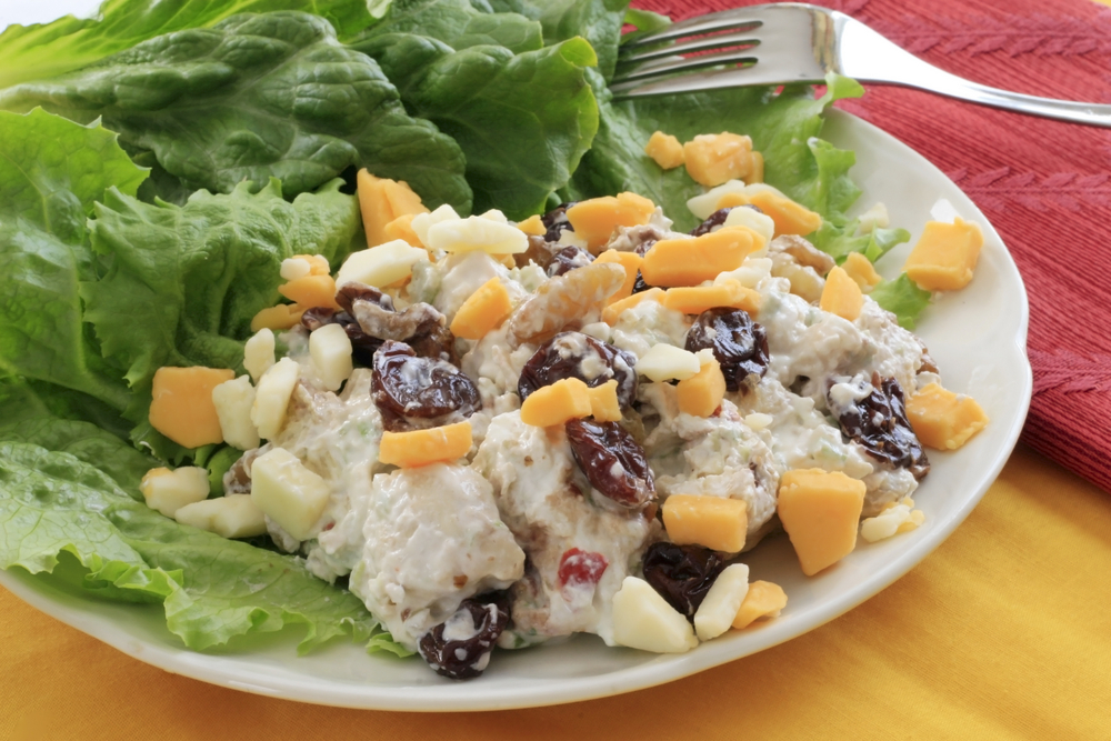 Cherry Chicken Salad with Cheese