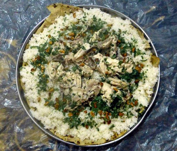 Mansaf (Pilaf with Lamb and Yogurt)