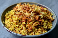 Mejadra (Spiced Lentils and Rice)