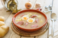 White Barszcz Zurek (Sour Bread Soup)