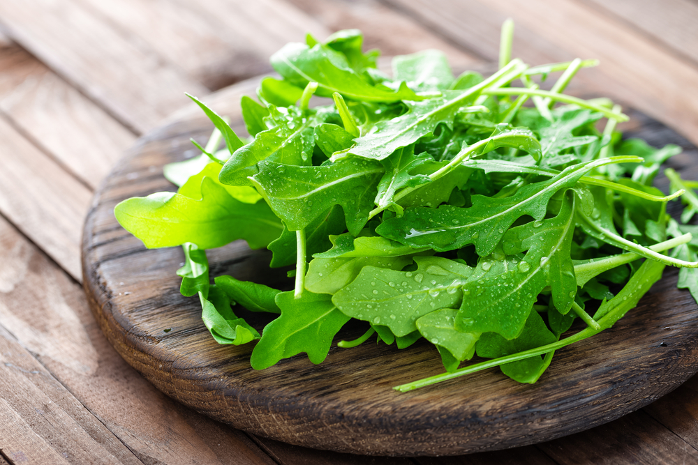 Arugula for the Michigan Salad.