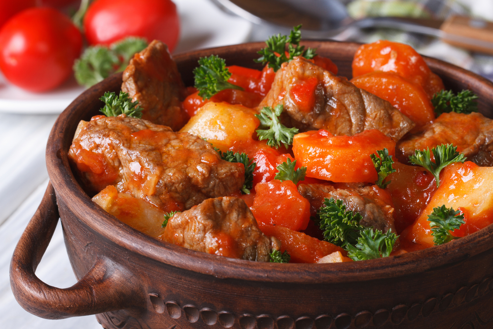Lamb Stew with Parsley Garnish