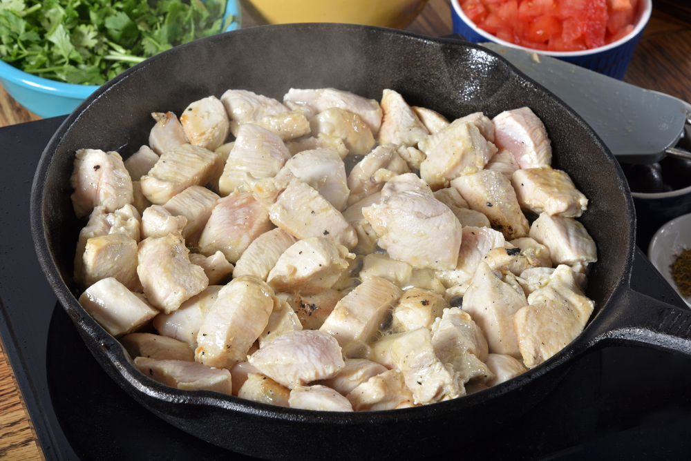 Cooked Cubed Chicken Breast